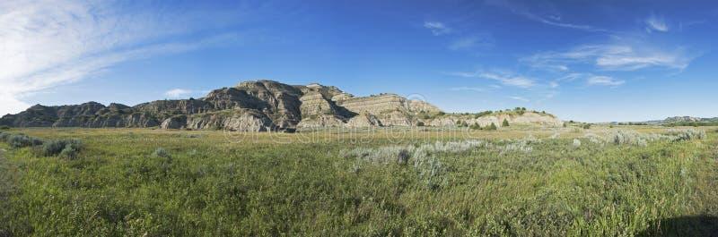 全景的西奥多・罗斯福国家公园 免版税库存照片