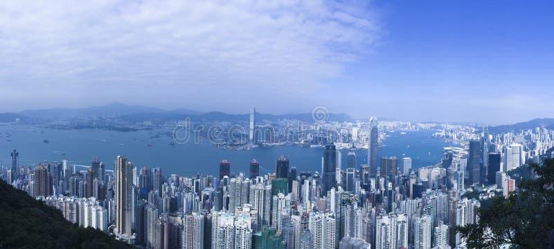 全景美丽的香港 免版税库存照片