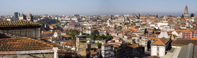 全景都市风景波尔图葡萄牙 免版税库存图片