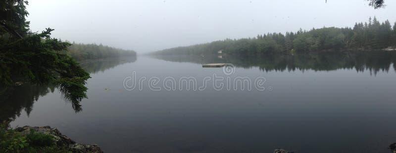 全景长的池塘 免版税图库摄影