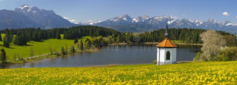 全景风景在巴伐利亚 免版税图库摄影