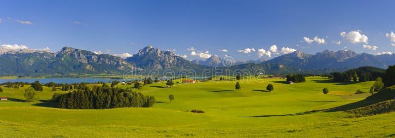 全景风景在巴伐利亚 免版税库存图片