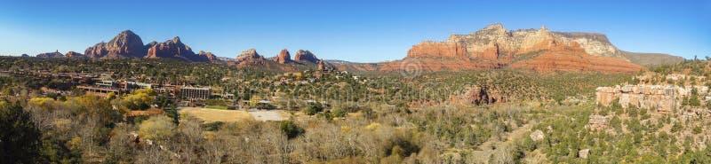 全景风景塞多纳亚利桑那红色岩石国家公园风景视图 库存图片