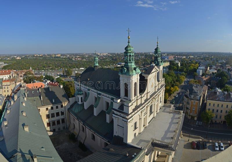 全景鲁布林(波兰) 免版税图库摄影