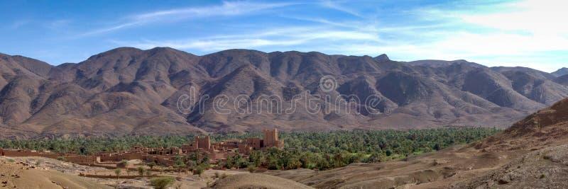 全景Draa的谷 库存图片