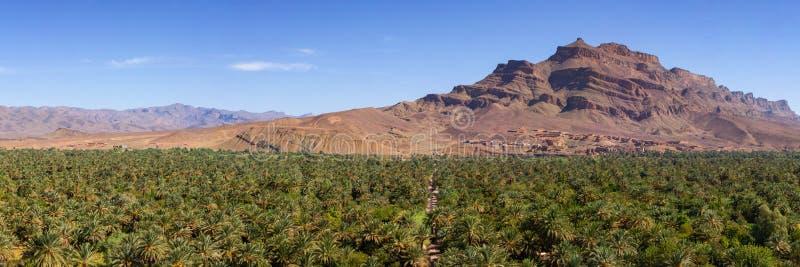 全景Draa的谷 免版税库存图片