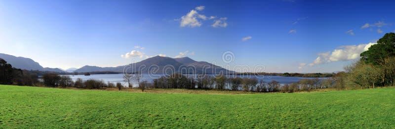 全景killarney的山 库存图片