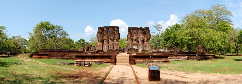 全景polonnaruwa废墟 库存照片