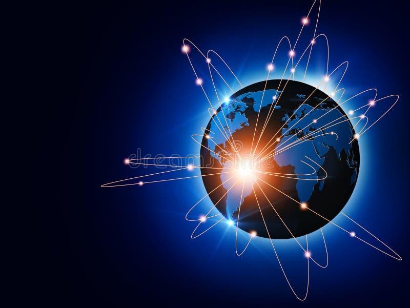 全球业务量和通信 皇族释放例证