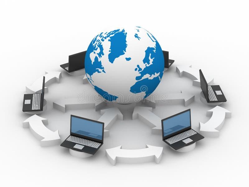全球互联网 皇族释放例证