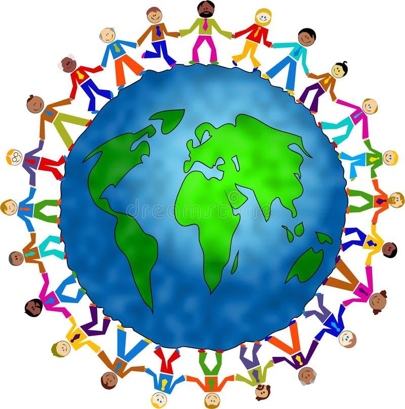 全球人 向量例证