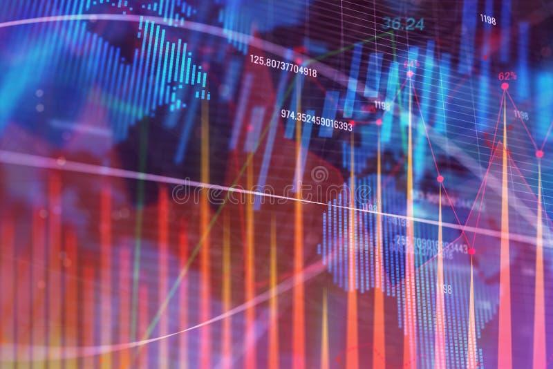 全球企业、贸易和赢利概念 向量例证