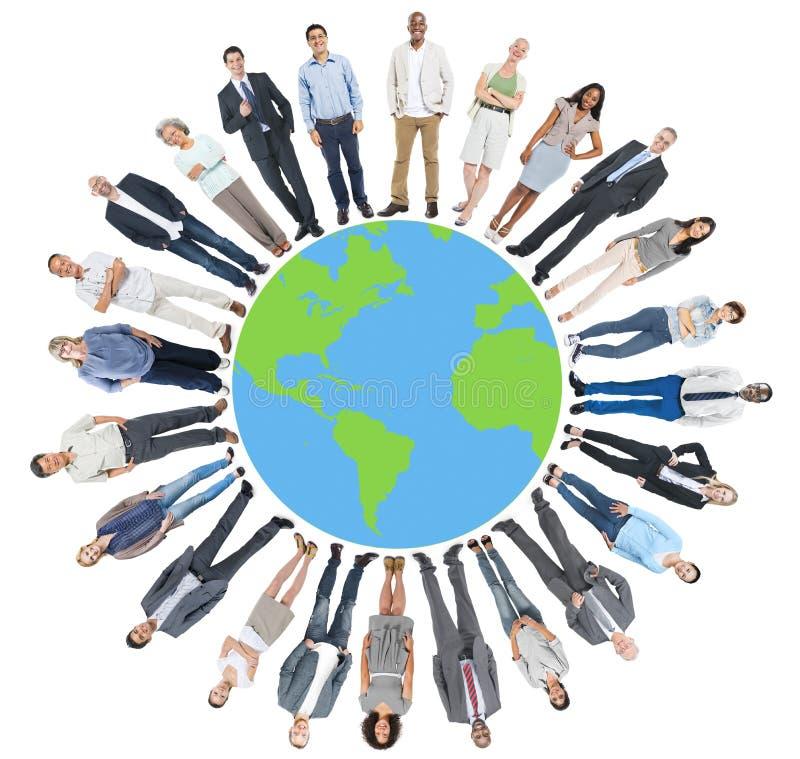 全球企业人世界公司概念 免版税图库摄影