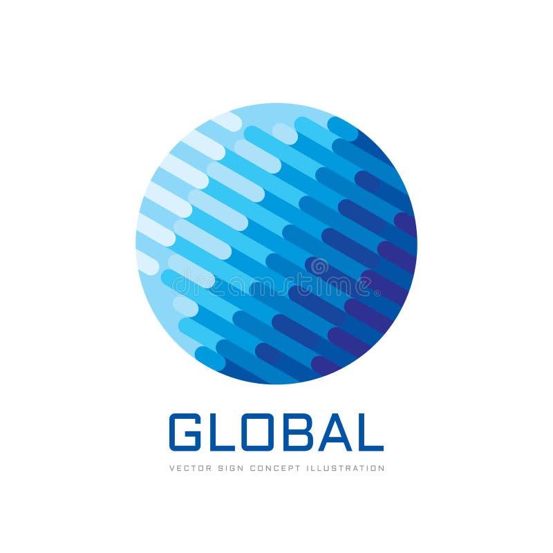 全球企业发展-概念商标模板传染媒介例证 摘要地球创造性的标志 几何结构标志 向量例证