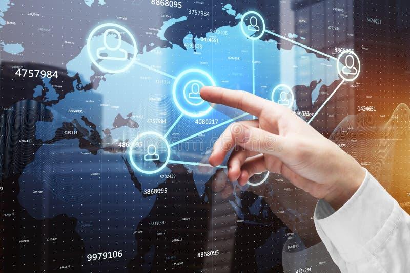 全球企业和HR概念 免版税库存图片