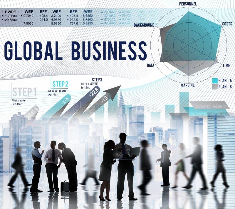 全球企业战略起始的成长概念 免版税库存照片