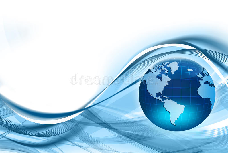 全球企业的最佳的概念 向量例证