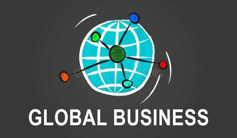全球企业的概念 向量例证