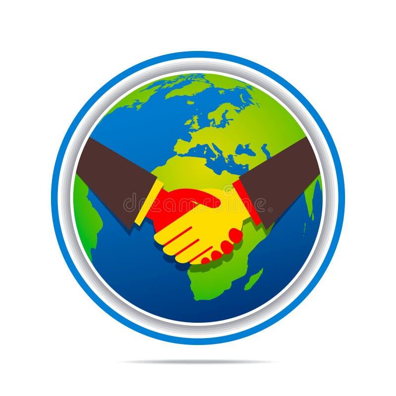 全球企业联系设计 库存例证