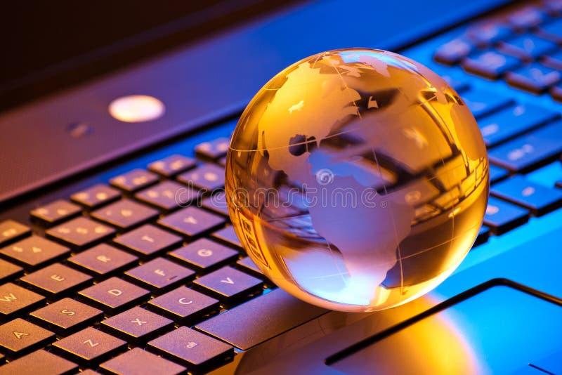 全球企业计算机的概念 库存照片