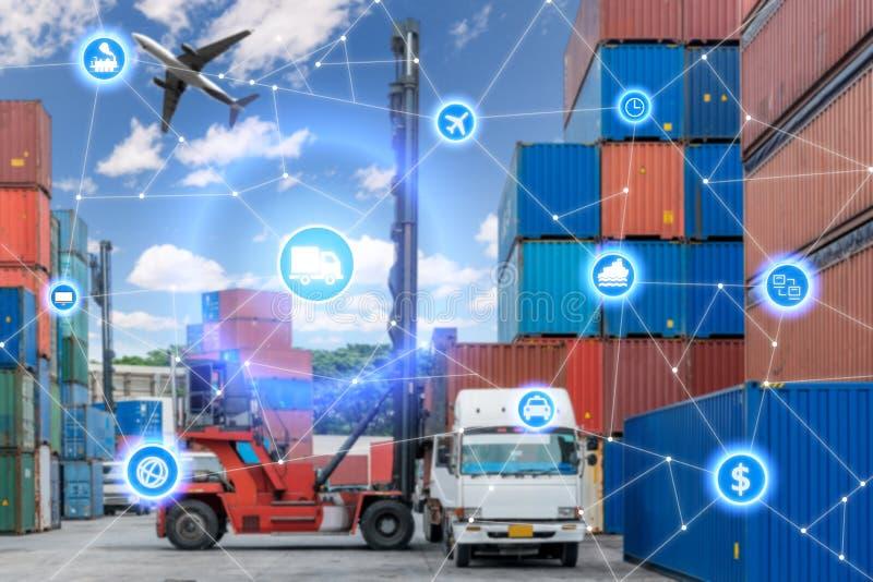 全球企业连接技术接口全球性伙伴c 库存照片