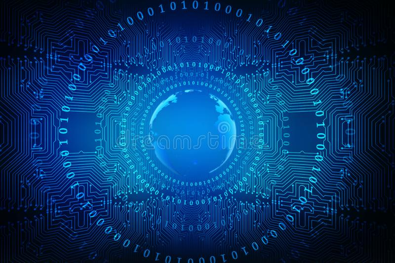 全球企业,数字式抽象技术背景的最佳的互联网概念 电子, Wi-Fi,光芒,标志互联网,远 向量例证