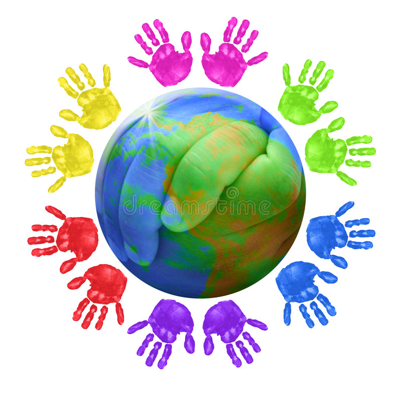 全球儿童的概念 向量例证