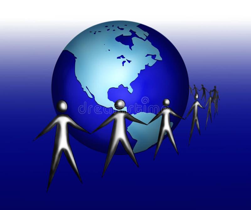 全球和谐 皇族释放例证