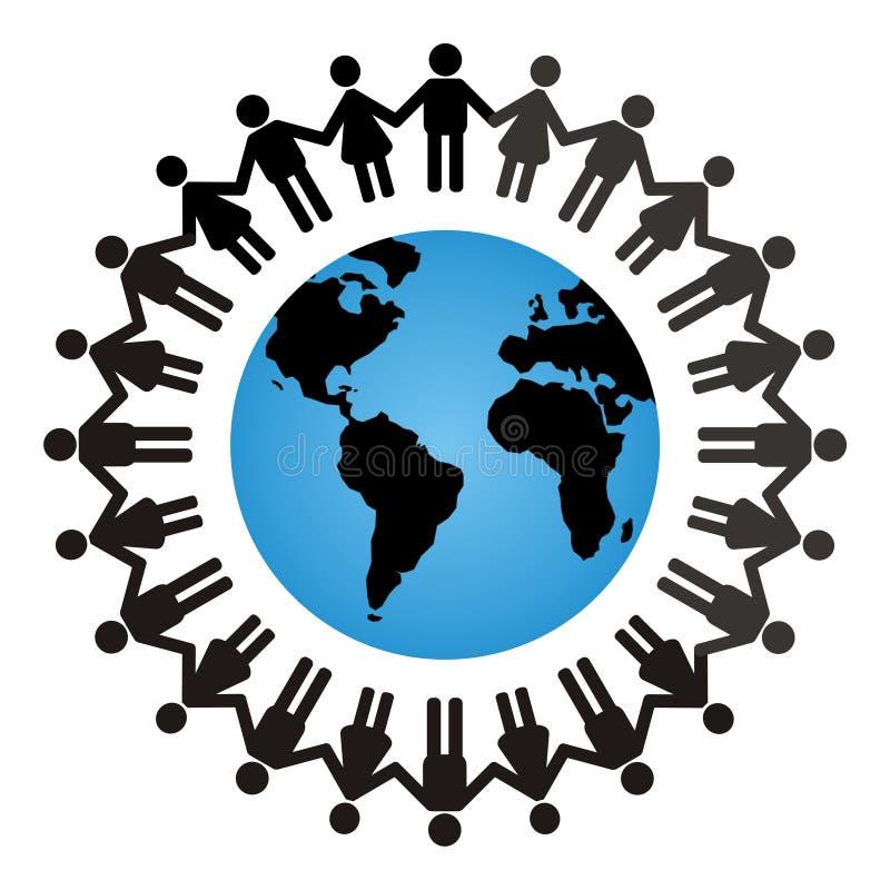 全球团结 向量例证