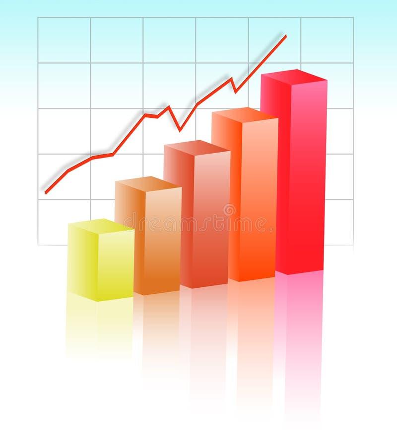 全球增长 向量例证