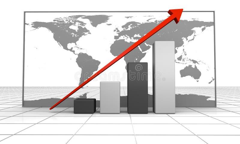 全球增长 库存例证
