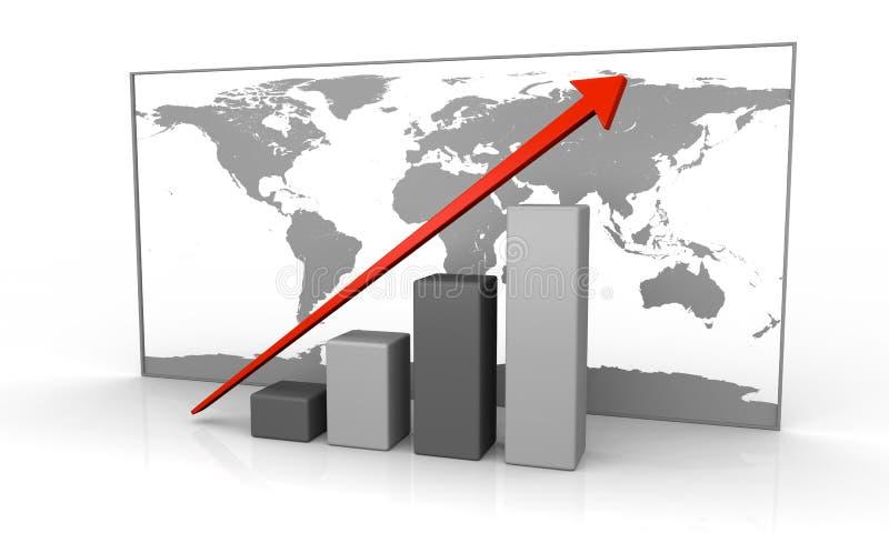 全球增长 皇族释放例证