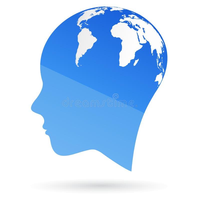 全球头脑 皇族释放例证