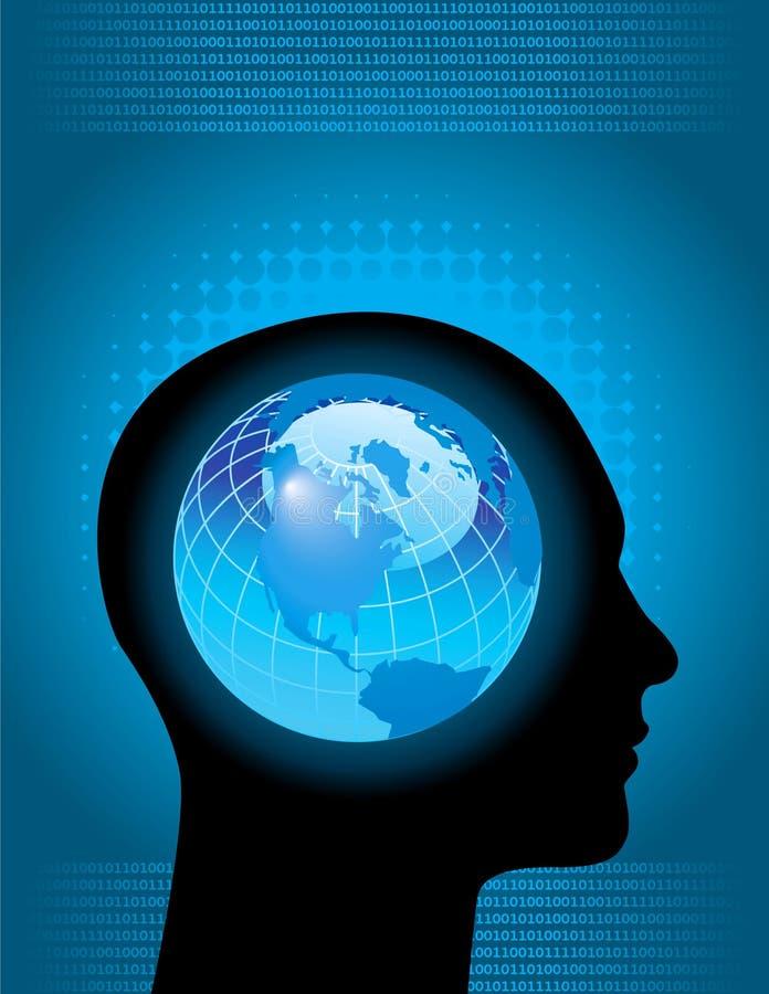 全球头脑 库存例证