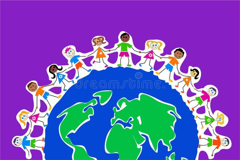 全球孩子 皇族释放例证