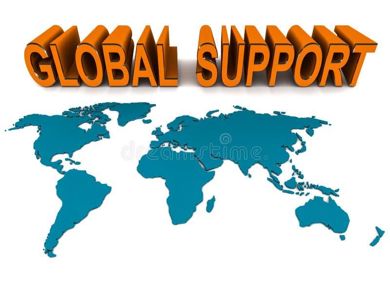 全球帮助和技术支持 库存例证