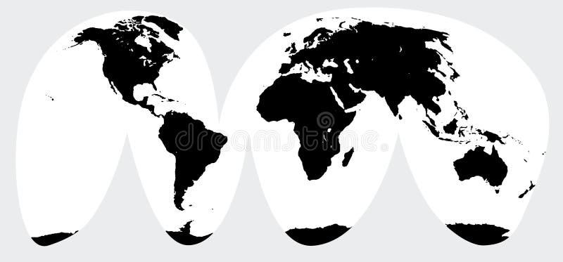 全球性世界剥落了地球地图图表被隔绝的传染媒介艺术象标志 向量例证