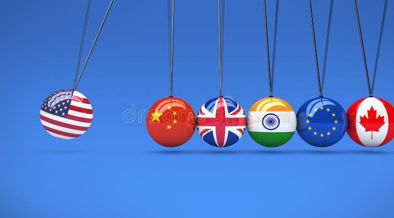 全球性世界经济关系国际性组织摇篮 库存例证