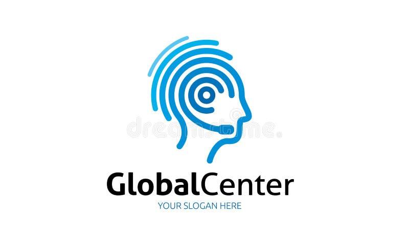 全球性中心商标 库存例证
