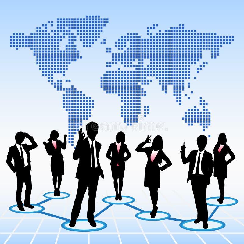 全球性人力资源概念 向量例证