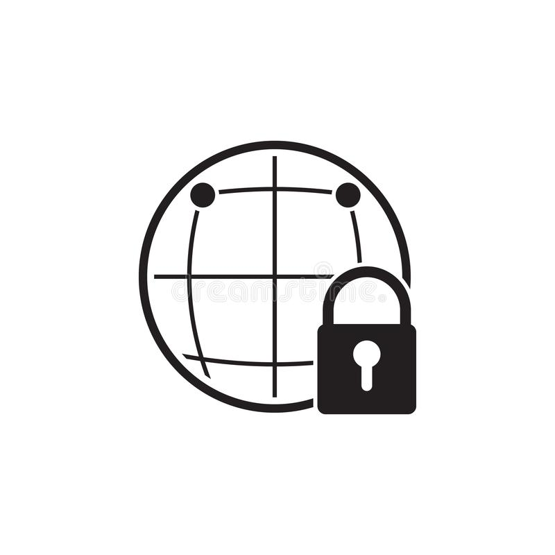 全球性保护象 网络安全象的元素 优质质量图形设计 标志和标志汇集象图片
