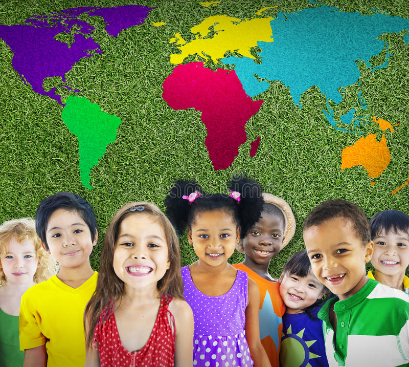 全球性全球化世界地图环境Concservation Conce 免版税库存照片