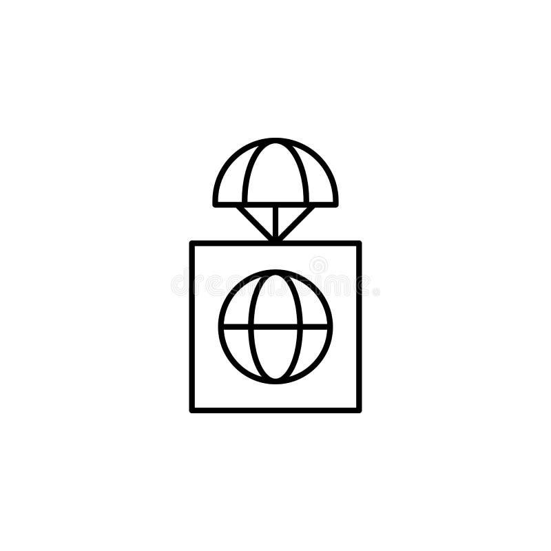 全球性前提象 寄生虫的元素流动概念和网apps例证的 网站设计的稀薄的线象和开发 库存例证