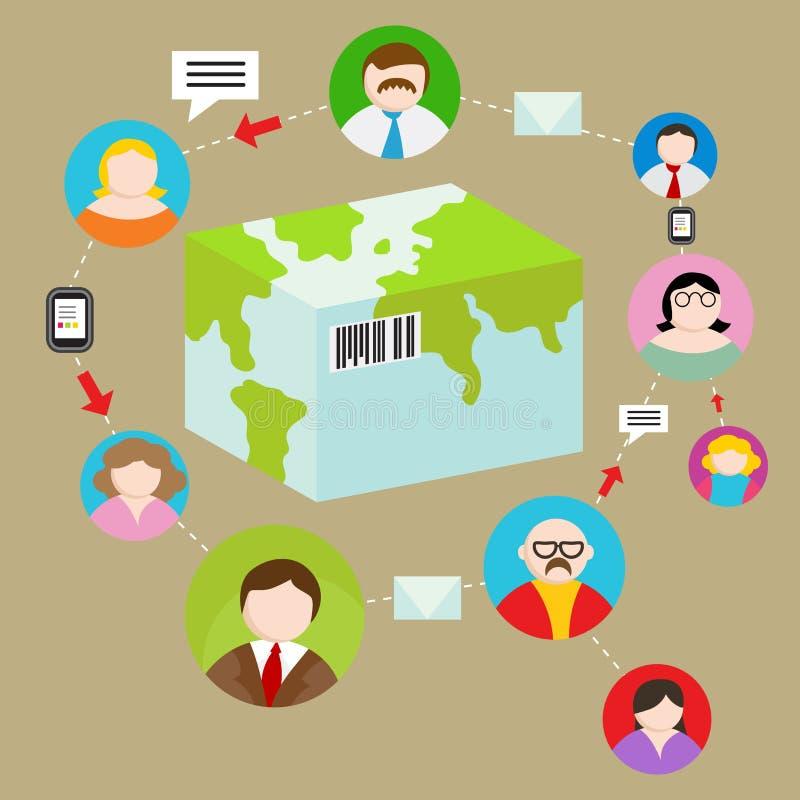 全球性发货跟踪系统 库存例证