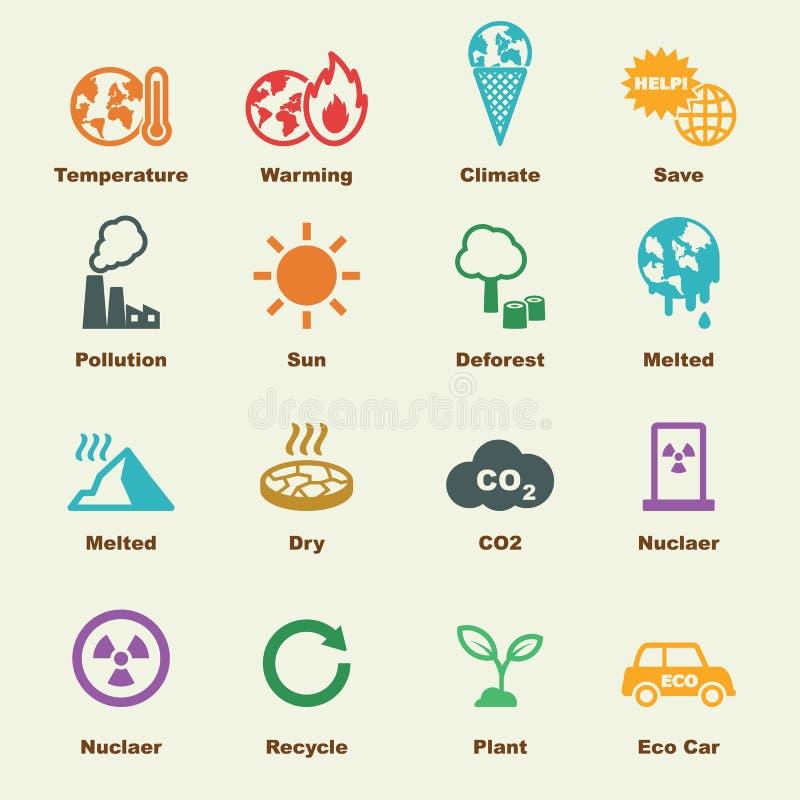 全球性变暖元素 库存例证