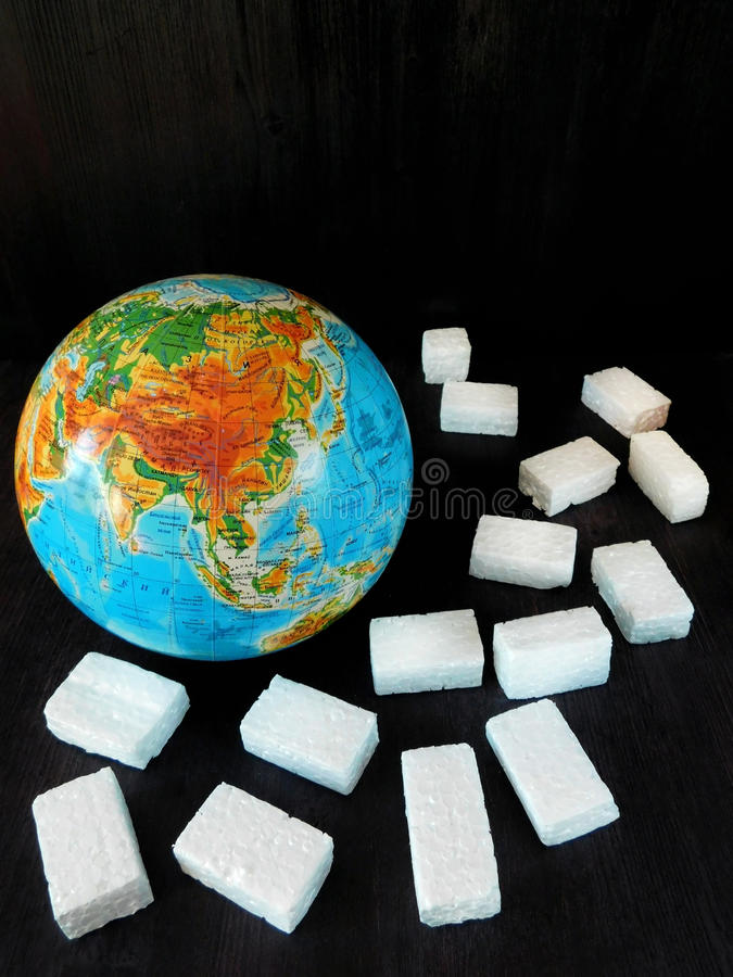 全球性变暖危险的概念 免版税库存照片