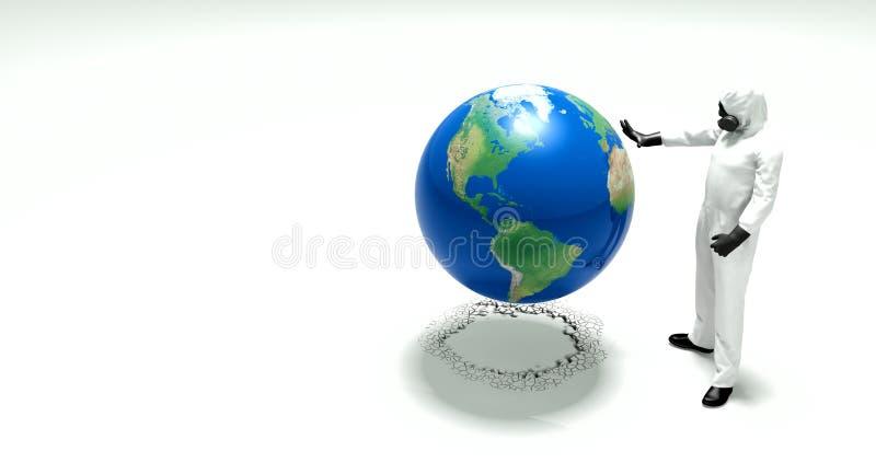全球性变暖和污染 库存例证