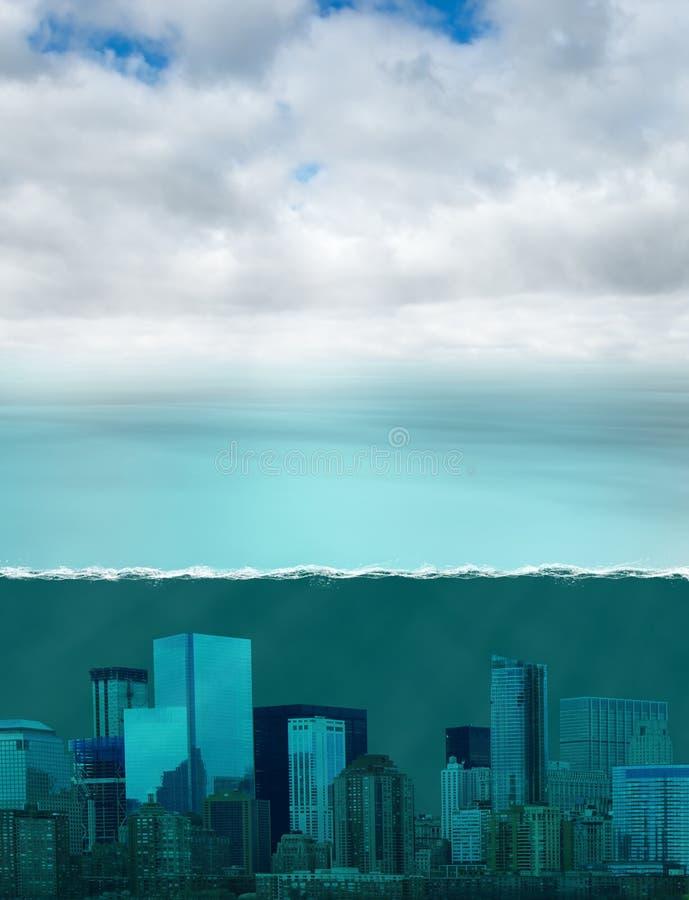 全球性变暖气候变化,天气 免版税库存图片