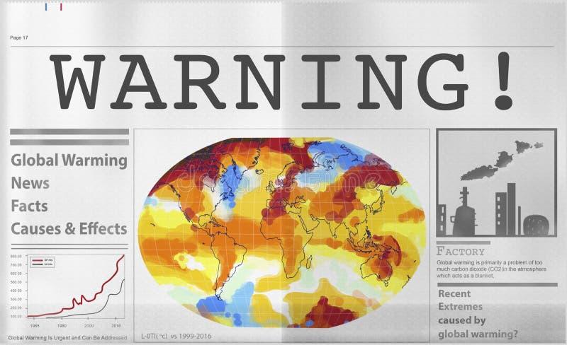 全球性变暖污染温室效应概念 免版税库存图片