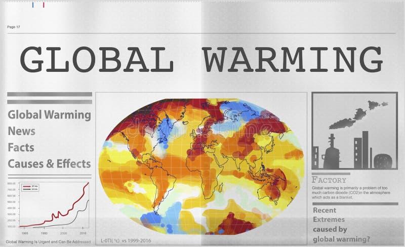 全球性变暖污染温室效应概念 库存照片
